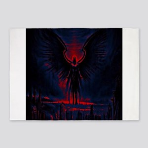 Angelic Guardian Red and Blue 5'x7'Area Rug