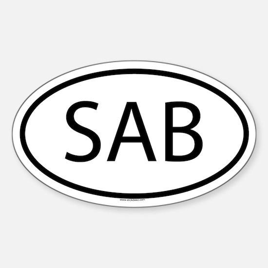 SAB Oval Decal