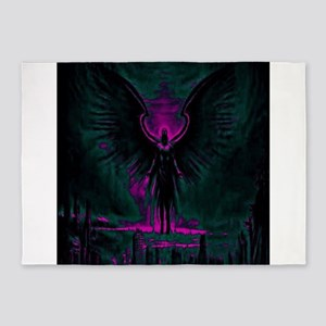 Angelic Guardian Purple and Teal 5'x7'Area Rug