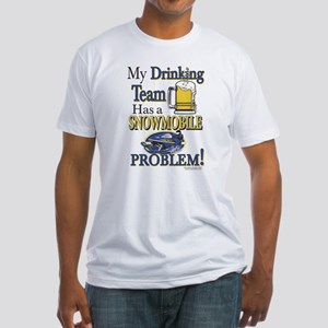 New Snowmobile Drinking Team Fitted T-Shirt