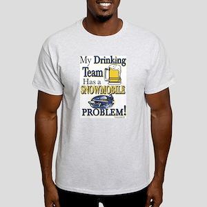 New Snowmobile Drinking Team Light T-Shirt