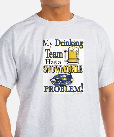 New Snowmobile Drinking Team T-Shirt