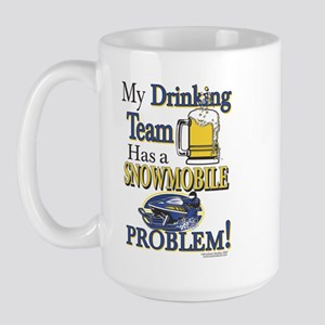 New Snowmobile Drinking Team Large Mug