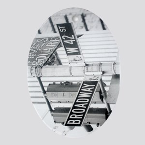 NY Broadway Times Square - Ornament (Oval)
