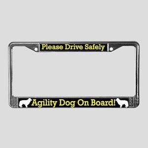 Border Collie Agility Dog License Plate Frame
