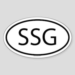 SSG Oval Sticker