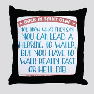 Lead a Herring to Water Throw Pillow