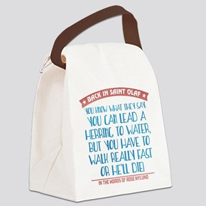 Lead a Herring to Water Canvas Lunch Bag