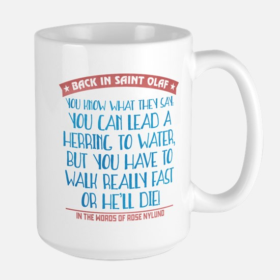 Lead a Herring to Water Large Mug