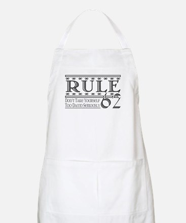 Rule 62 Alcoholism Saying BBQ Apron