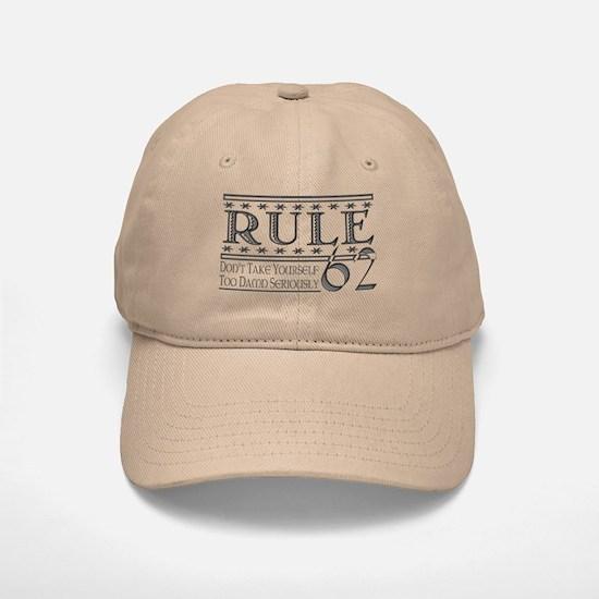 Rule 62 Alcoholism Saying Baseball Baseball Cap