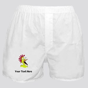 Crazy Chicken (Custom) Boxer Shorts