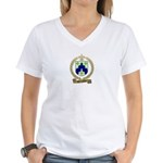 BOURGEOIS Family Crest Women's V-Neck T-Shirt