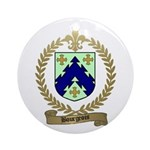 BOURGEOIS Family Crest Ornament (Round)