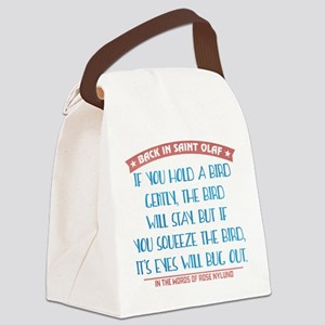 Hold a Bird Gently Canvas Lunch Bag