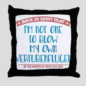 Blow My Own Vertubenflugen Throw Pillow
