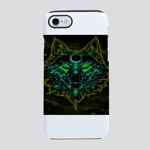 Mythical Neon Yellow Wolf iPhone 8/7 Tough Case