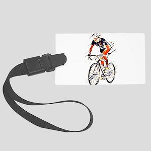 Cyclist Large Luggage Tag