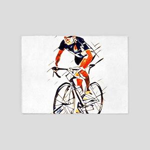 Cyclist 5'x7'Area Rug