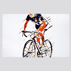 Cyclist 4' x 6' Rug