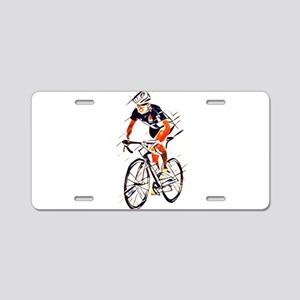Cyclist Aluminum License Plate
