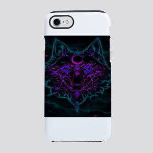 Mythical Neon Teal Wolf iPhone 8/7 Tough Case