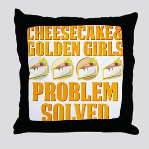 Cheesecake & Golden Girls Throw Pillow