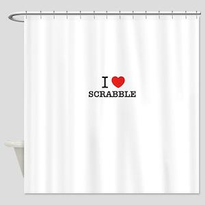 I Love SCRABBLE Shower Curtain