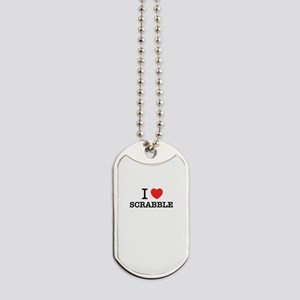I Love SCRABBLE Dog Tags