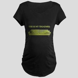 Treadmill Couch Maternity Dark T-Shirt