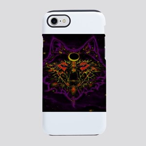Mythical Neon Purple Wolf iPhone 8/7 Tough Case