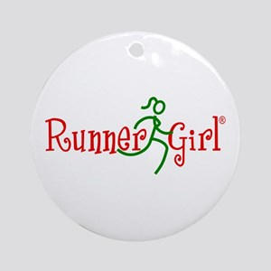 RunnerGirl Round Ornament-rg