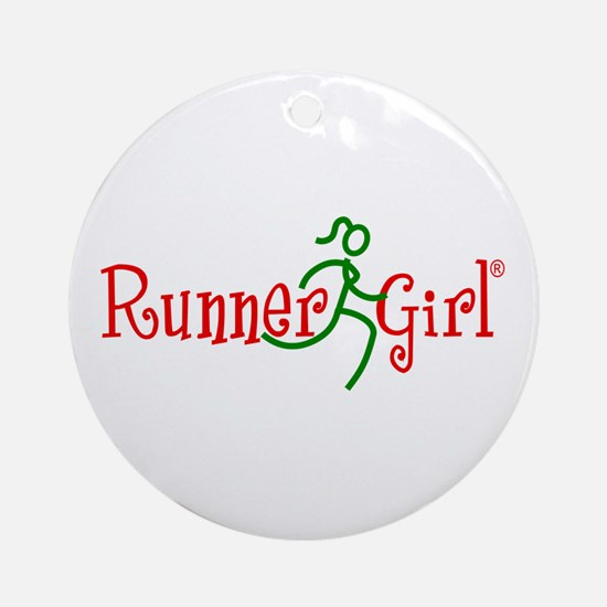 RunnerGirl Round Ornament-rg