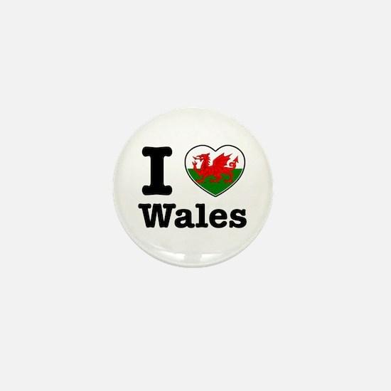 I love Wales Mini Button