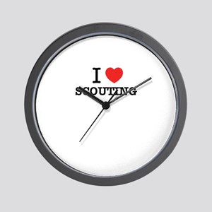 I Love SCOUTING Wall Clock