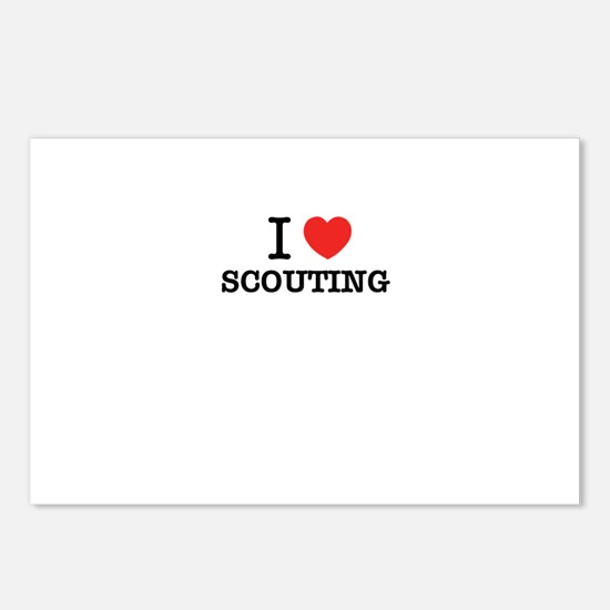 I Love SCOUTING Postcards (Package of 8)