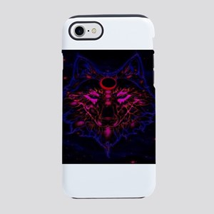 Mythical Neon Blue Wolf iPhone 8/7 Tough Case