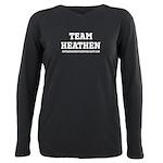 Heathen-White Plus Size Long Sleeve Tee