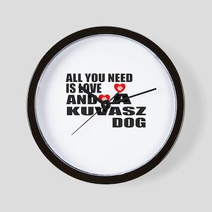 All You Need Is Love Kuvasz Dog Wall Clock