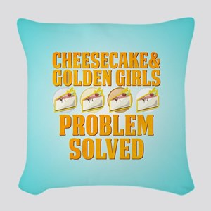 Cheesecake & Golden Girls Woven Throw Pillow