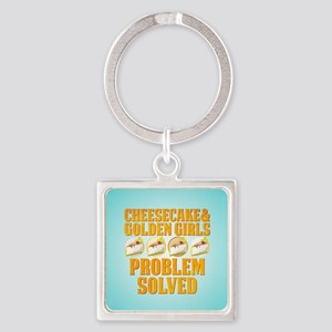Cheesecake & Golden Girls Square Keychain