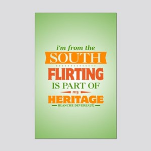 Flirting is Part of My Heritage Mini Poster Print