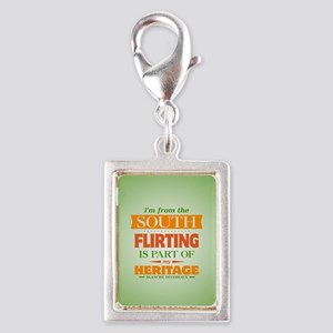 Flirting is Part of My Herit Silver Portrait Charm