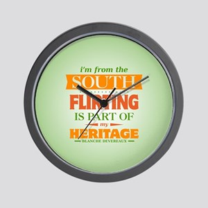Flirting is Part of My Heritage Wall Clock