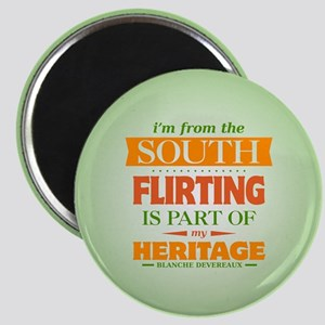 Flirting is Part of My Heritage Magnet