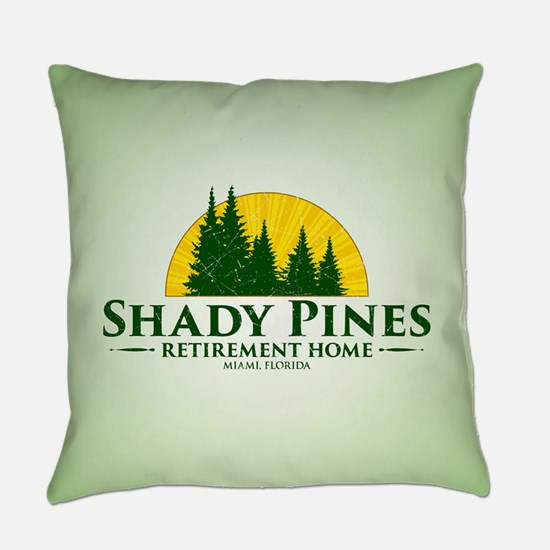 Shady Pines Logo Everyday Pillow