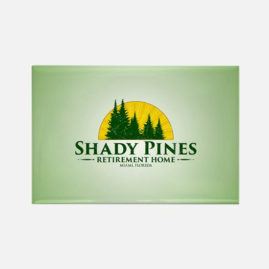Shady Pines Logo Rectangle Magnet