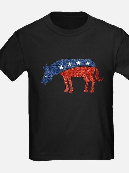glitter democrat donkey T-Shirt