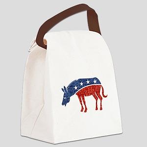 glitter democrat donkey Canvas Lunch Bag
