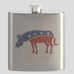 glitter democrat donkey Flask